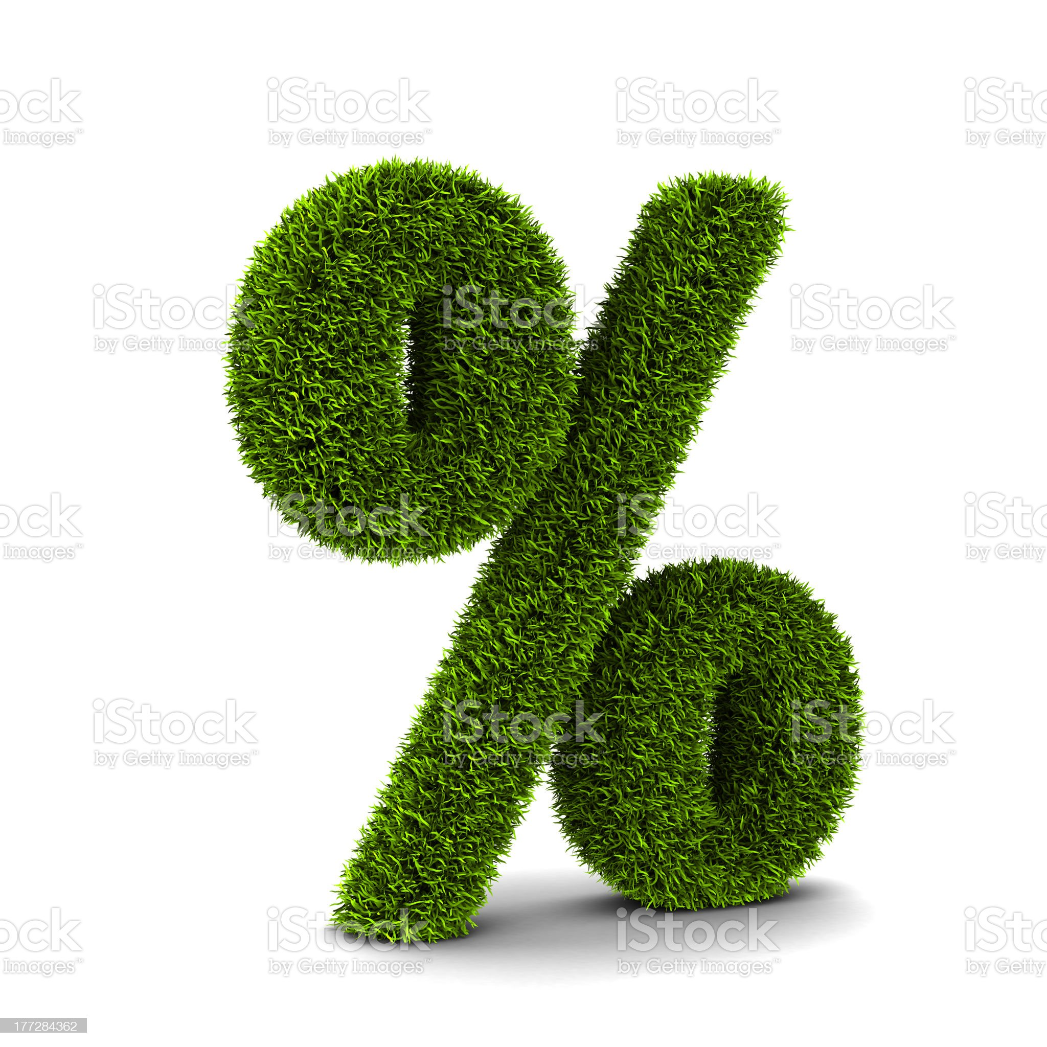 Grassed symbol of percent royalty-free stock photo