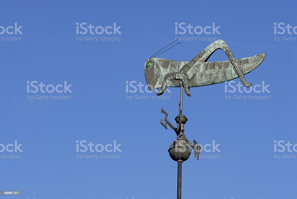 Grasshopper weather vane royalty-free stock photo