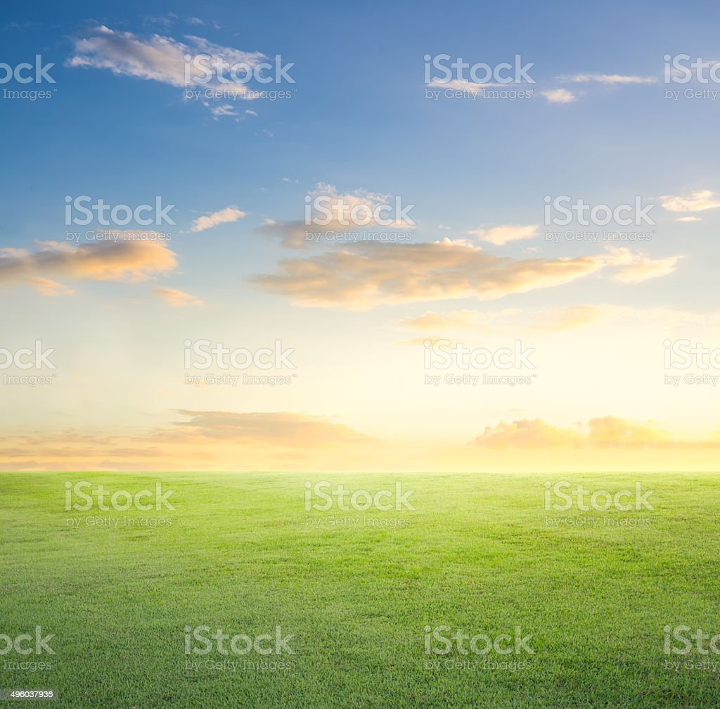 Grassland sky stock photo