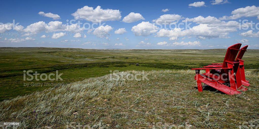 Grasslands National Park stock photo