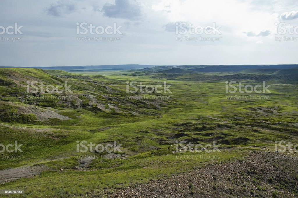Grasslands National Park, Saskatchewan stock photo