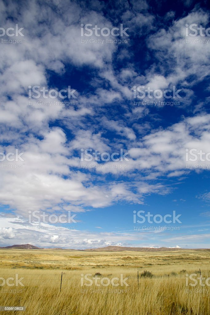 Grasslands of the Wild West (US) stock photo