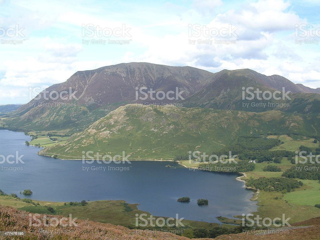 Grassmoor and Rannerdale Knotts royalty-free stock photo
