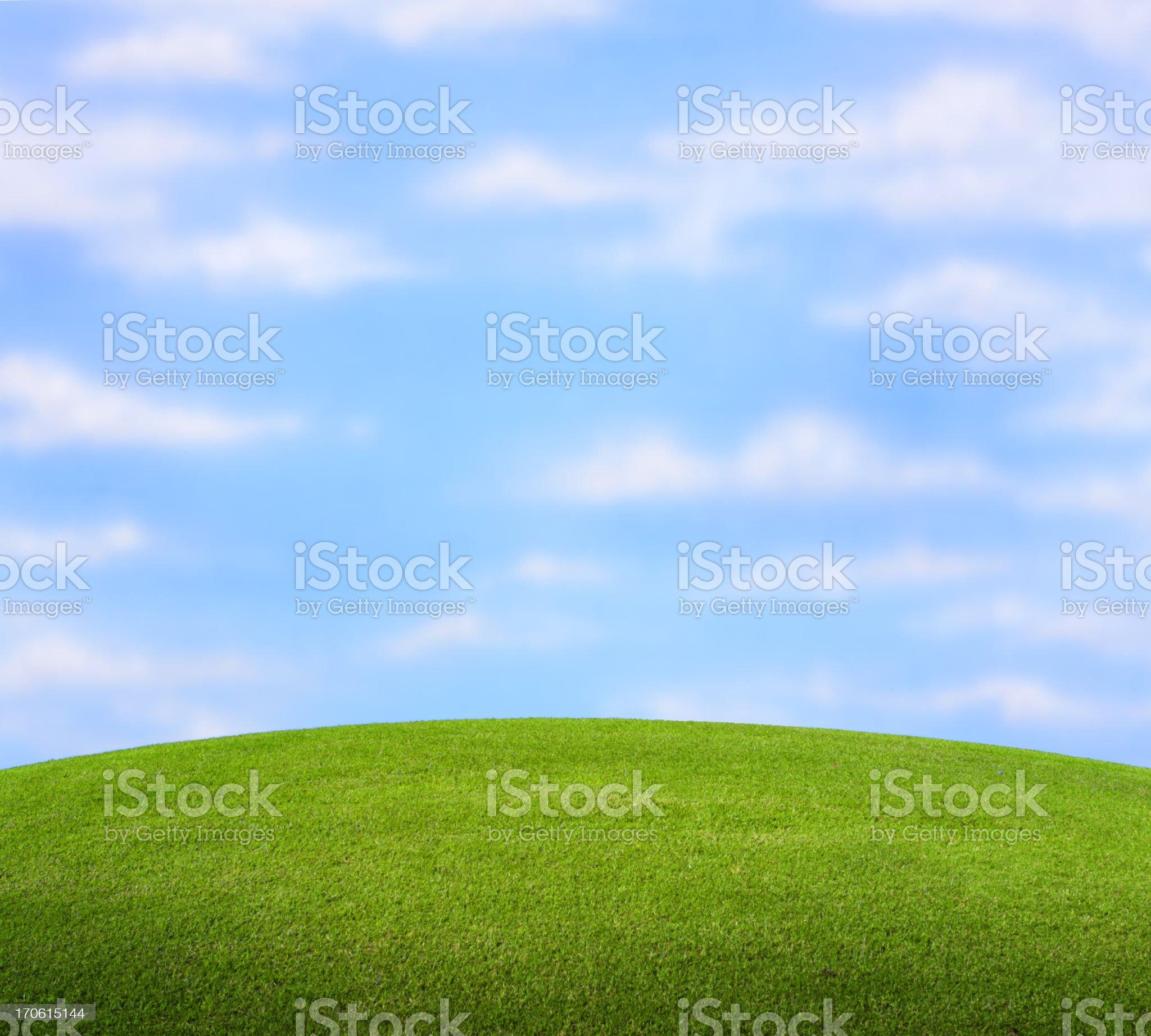 Grassy Knoll royalty-free stock photo