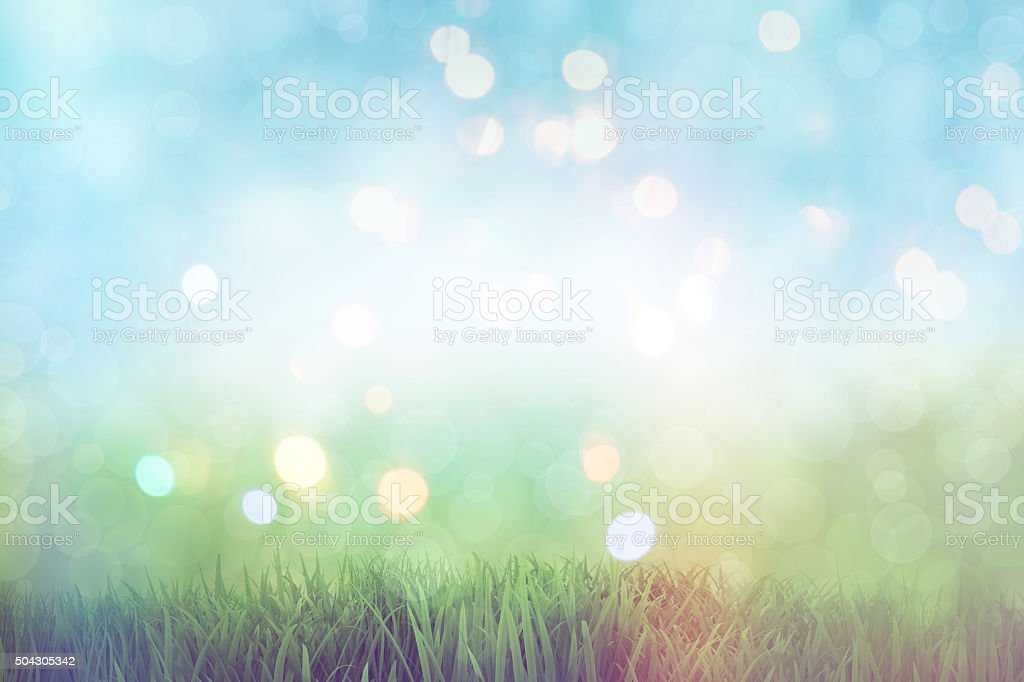 3D grassy landscape with retro effect stock photo