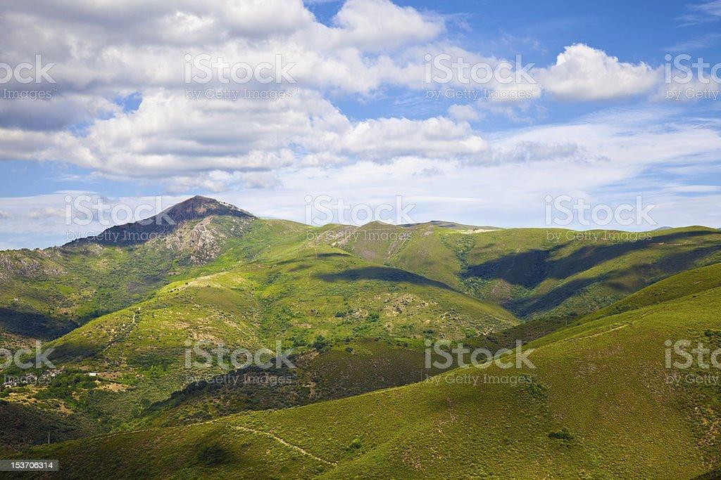 Grassy mountains landscape stock photo