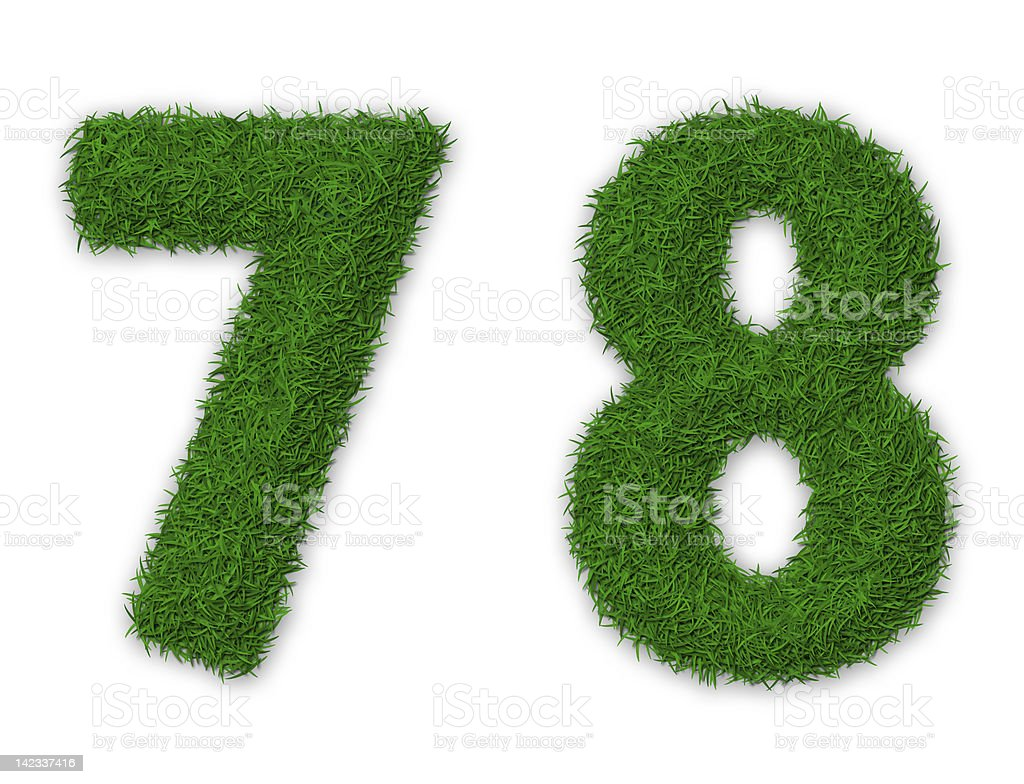 Grassy numbers royalty-free stock vector art