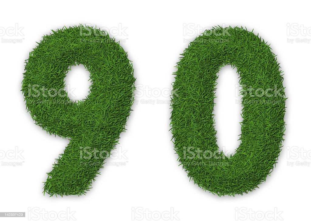 Grassy numbers royalty-free stock photo