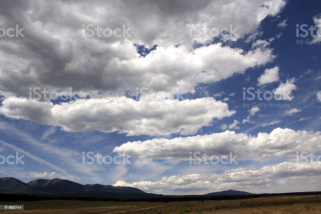 Grassy Plains w/ Clouds stock photo