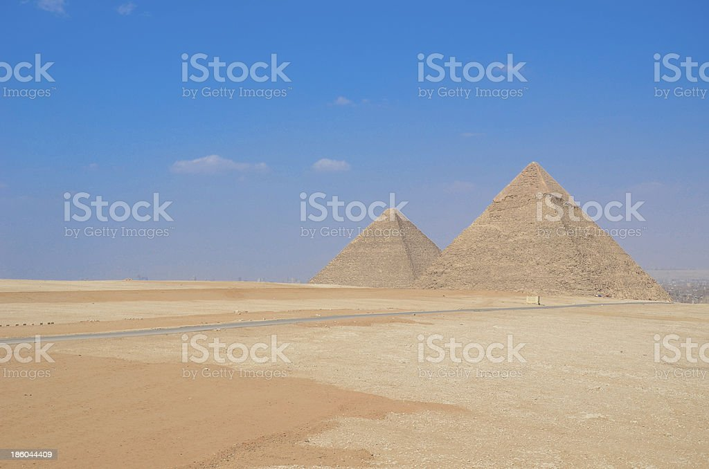 Grate pyramids in giza, Egypt royalty-free stock photo