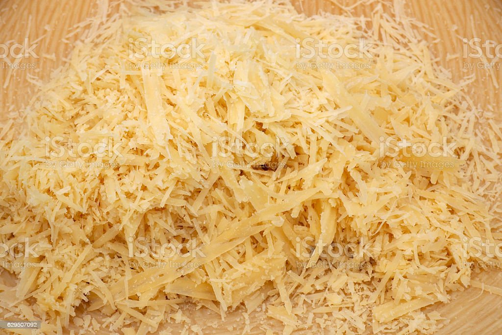 Grated cheese background stock photo