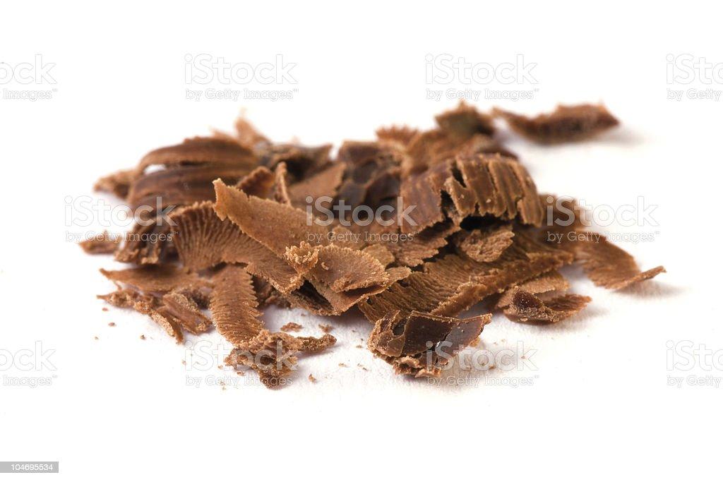 Grated chocolate stock photo