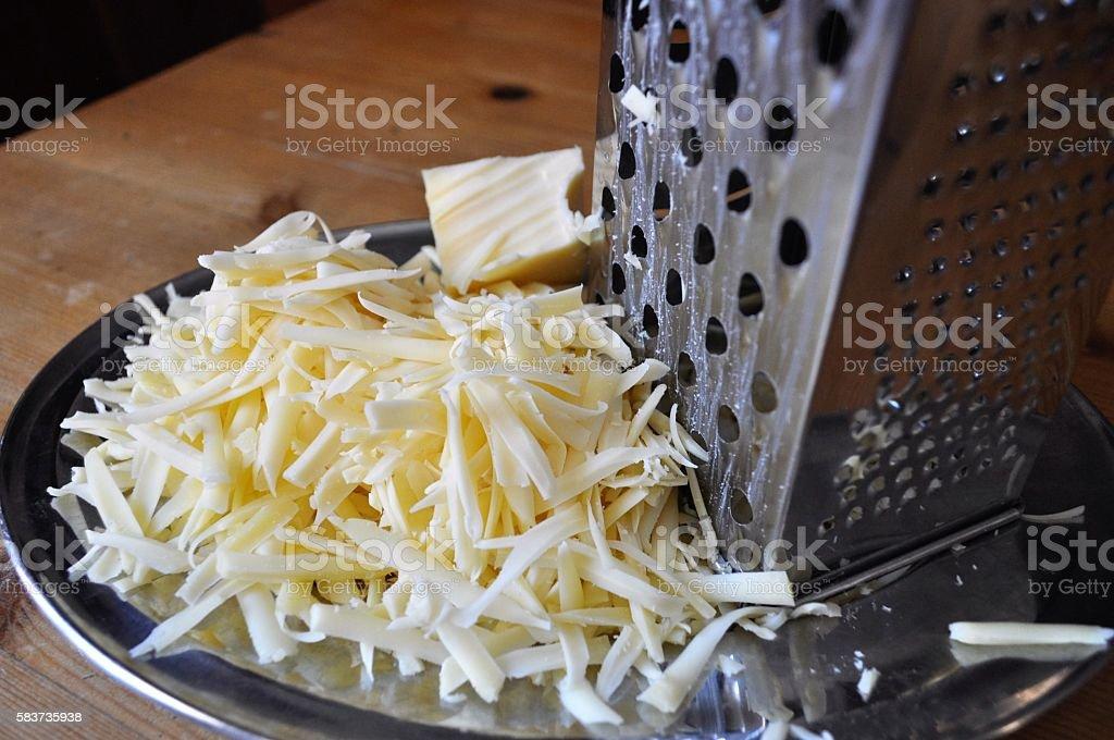 Grated emmental, Emmental grattugiato stock photo