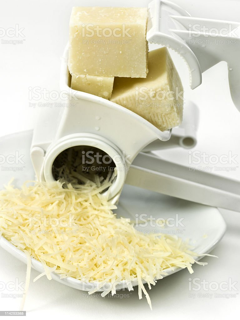 Grated Parmesan Cheese royalty-free stock photo