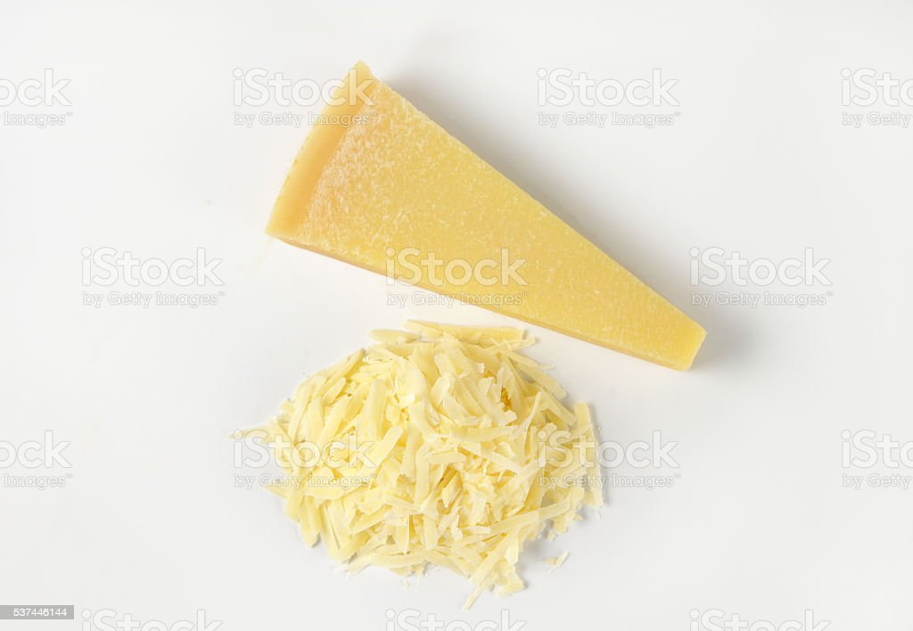 grated parmesan cheese stock photo