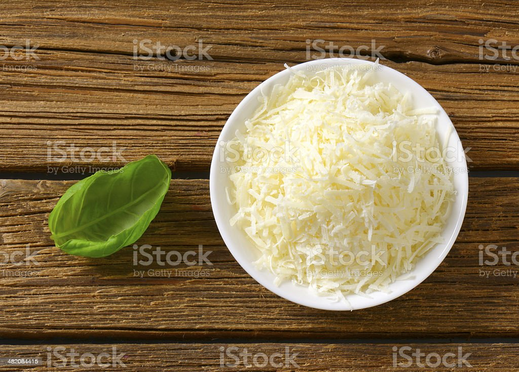 grated parmesan stock photo