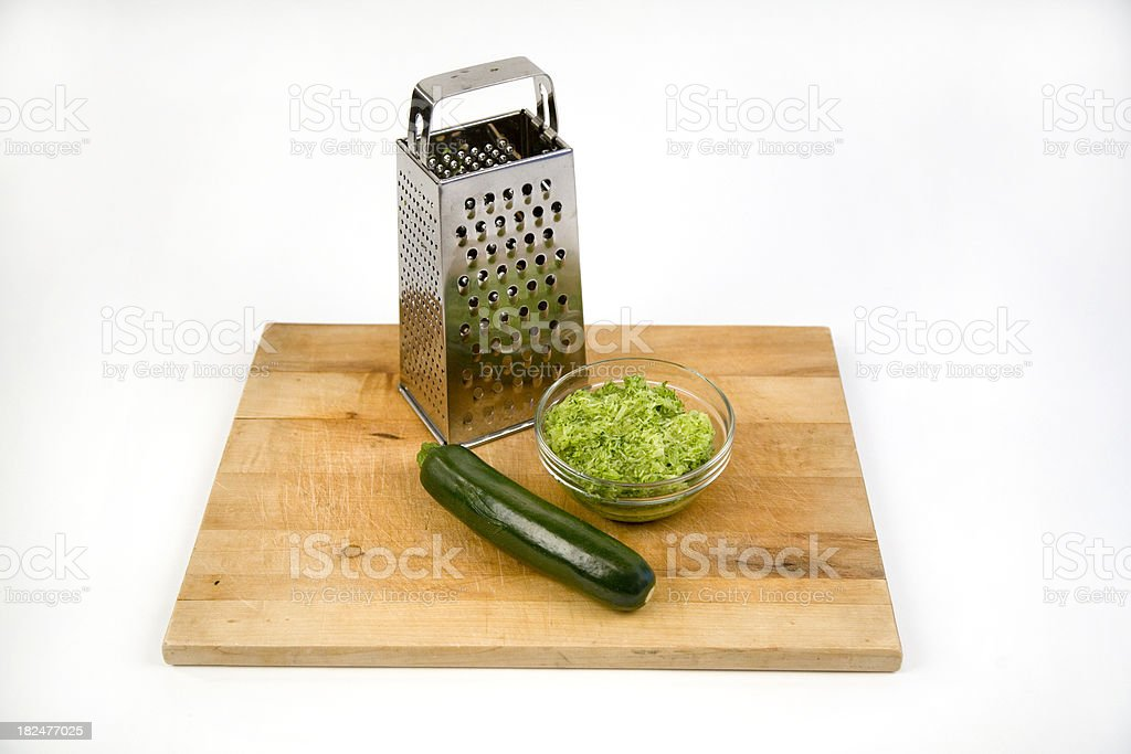 grated zucchini royalty-free stock photo