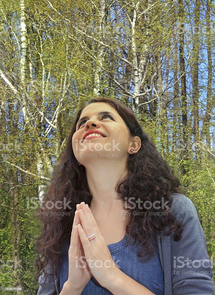 Grateful pray royalty-free stock photo