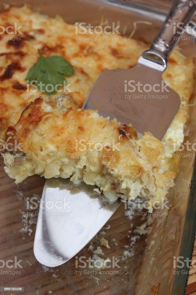 Gratin de Macaroni stock photo