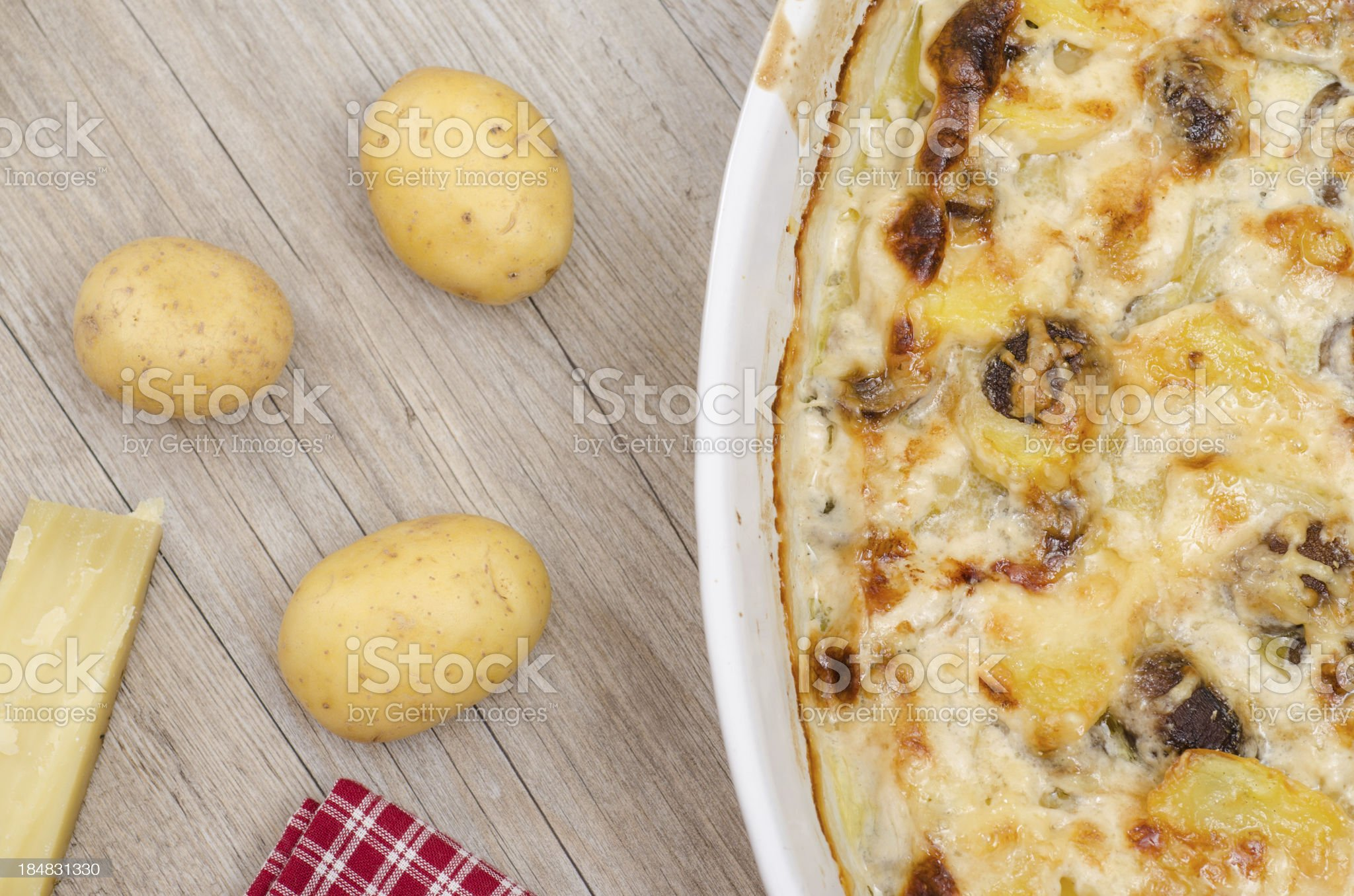 Gratin with potatoes and cheese royalty-free stock photo