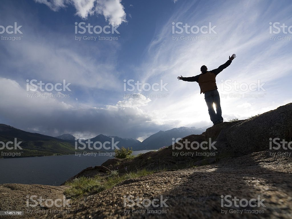 gratitude cliffs royalty-free stock photo