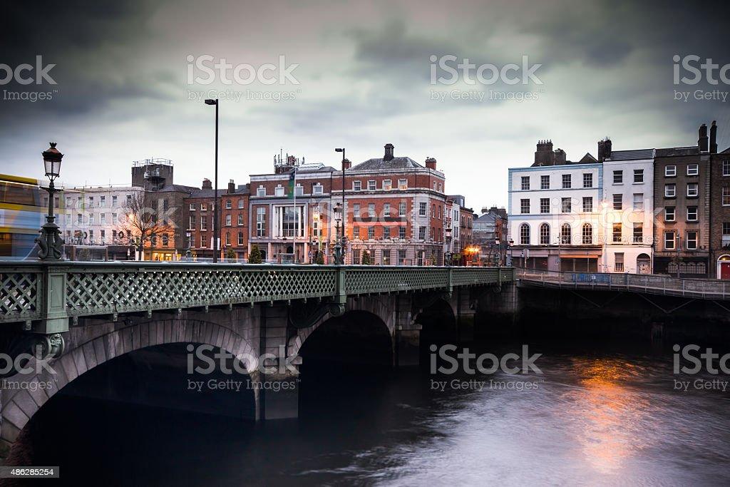 Grattan Bridge Dublin stock photo