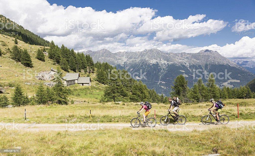 Graubünden Biking, Switzerland royalty-free stock photo