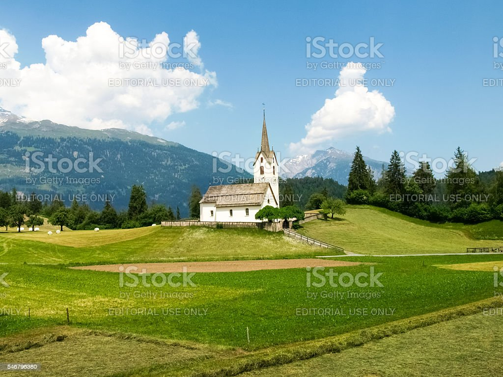 Graubuenden, Uri, Switzerland: Urserental stock photo