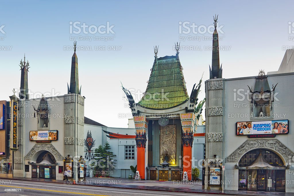 Grauman's Chinese Theater located on Hollywood Boulevard stock photo