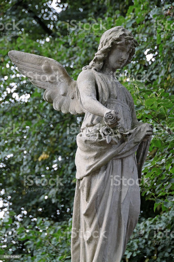 Grave angel stock photo