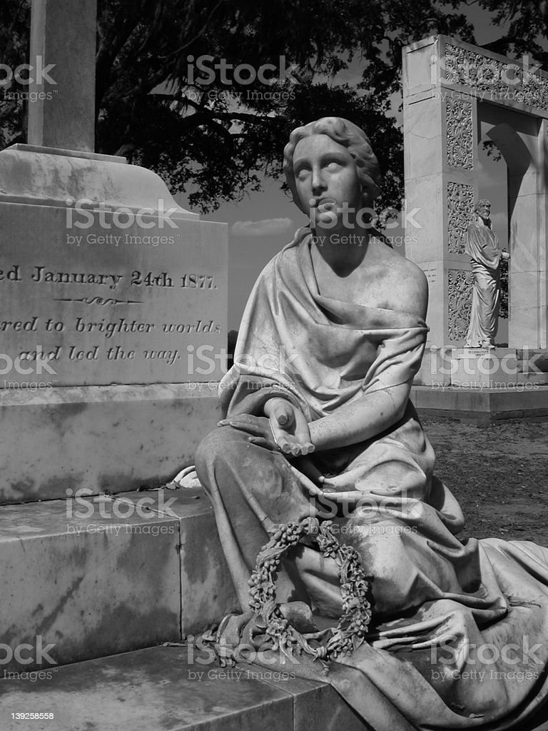 Grave at Bonaventure Cemetery stock photo