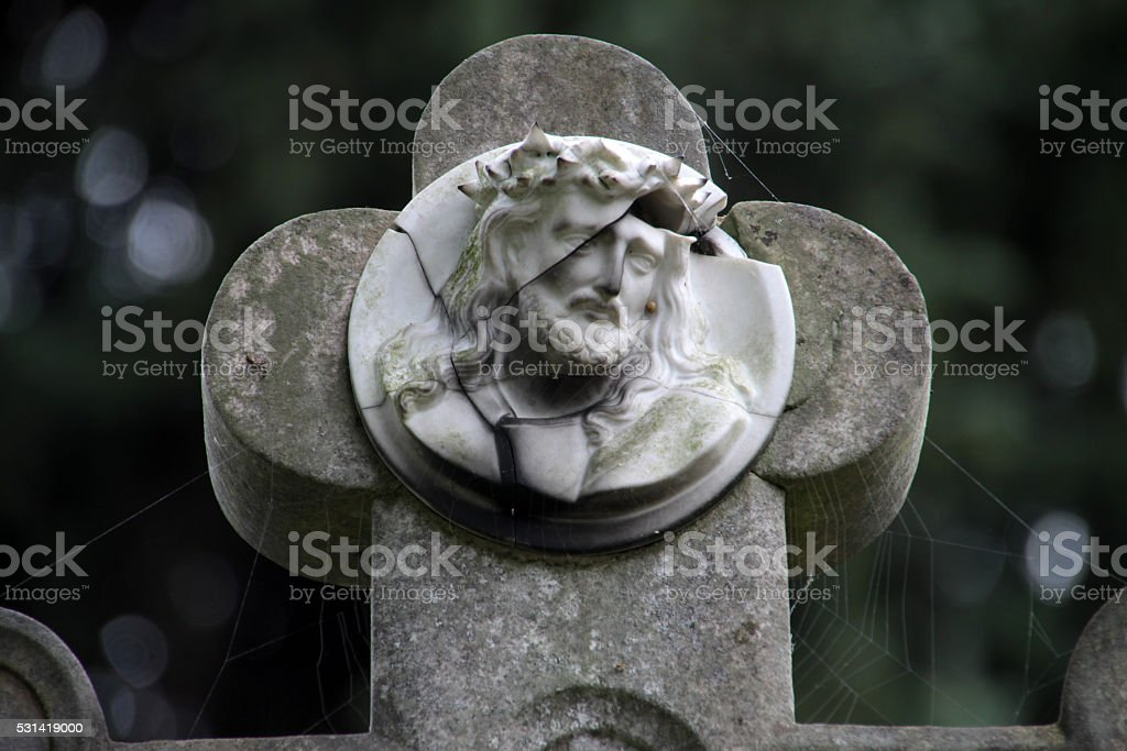 Grave cross stock photo