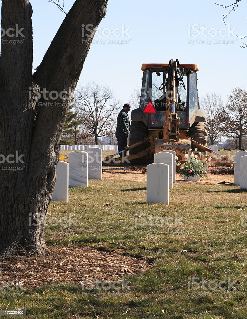 Grave Diggers stock photo