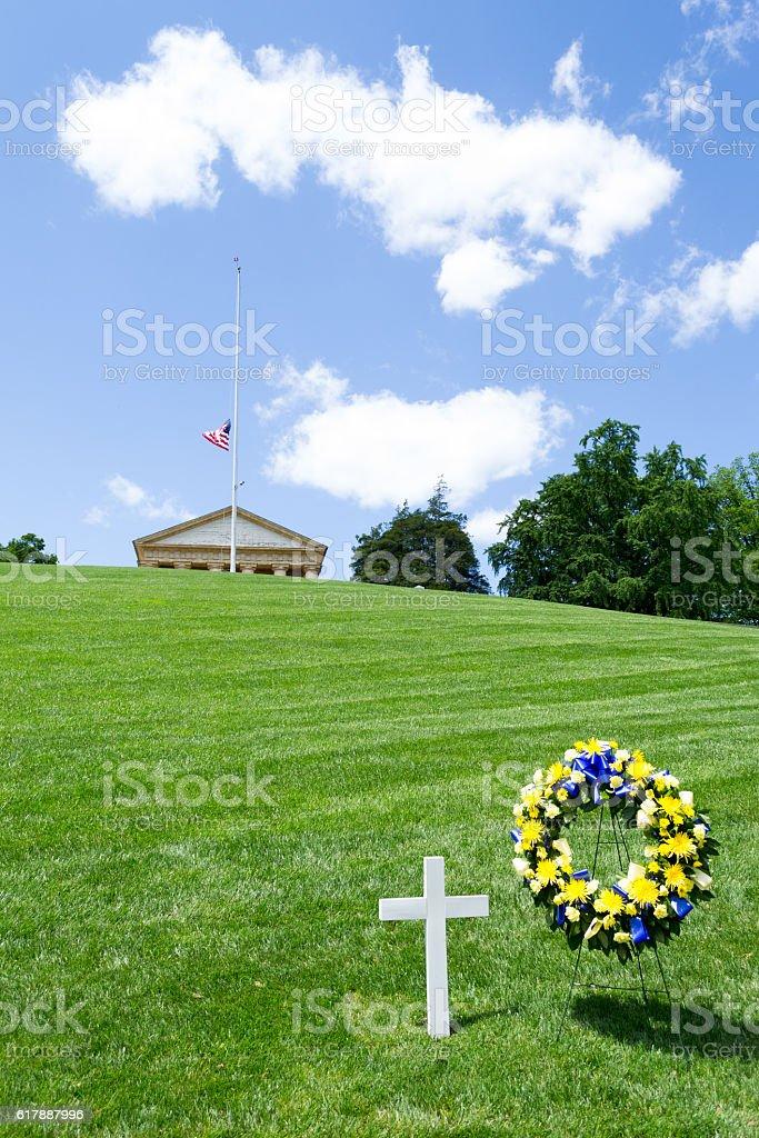 RFK grave in DC stock photo