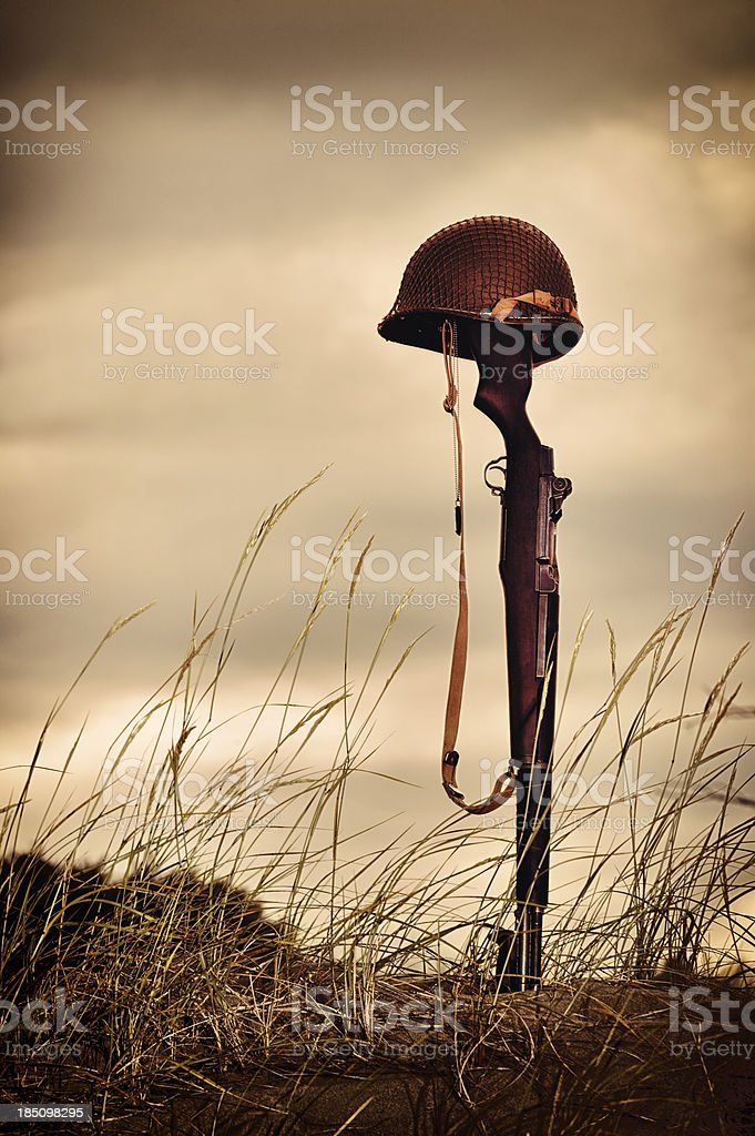 Grave Marker of A Battlefield Hero royalty-free stock photo