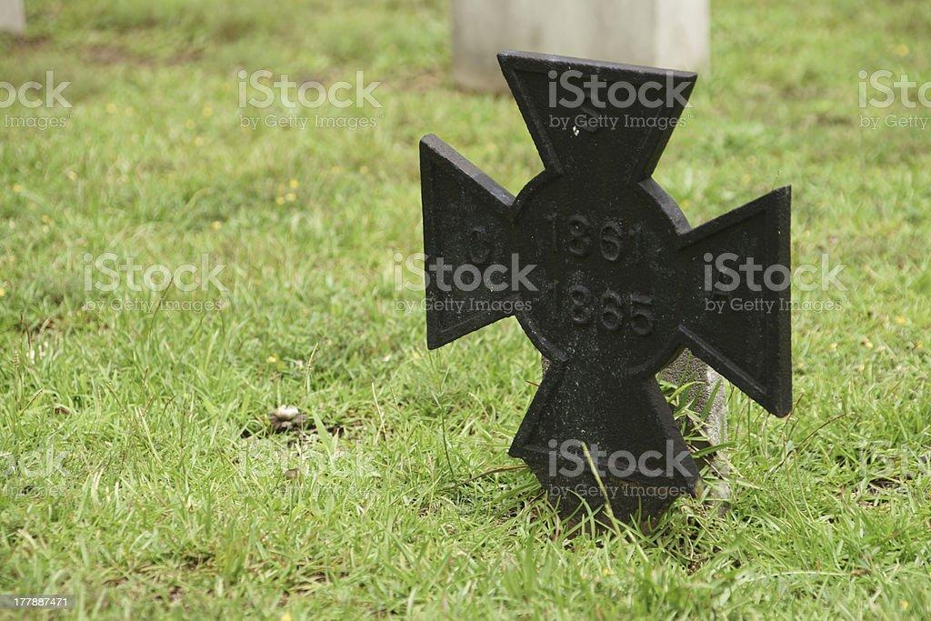 CSA Grave Marker stock photo