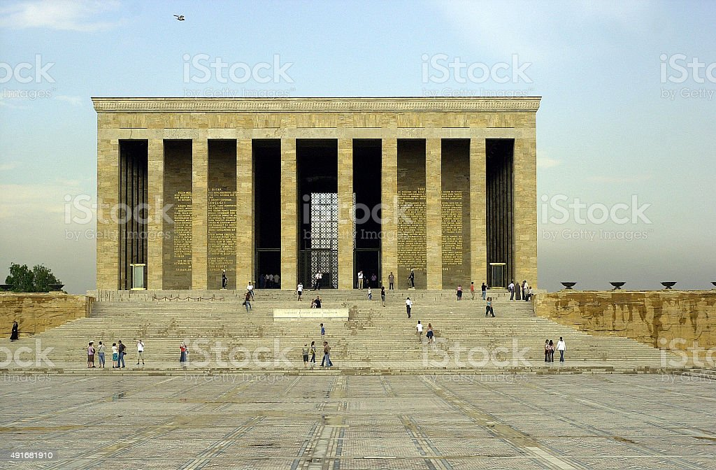 Grave of Ataturk, Ankara, Turkey stock photo