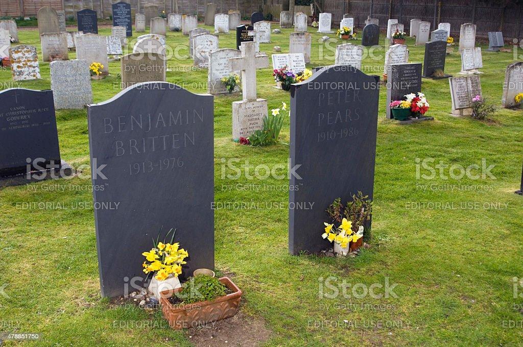Grave of Benjamin Britten stock photo