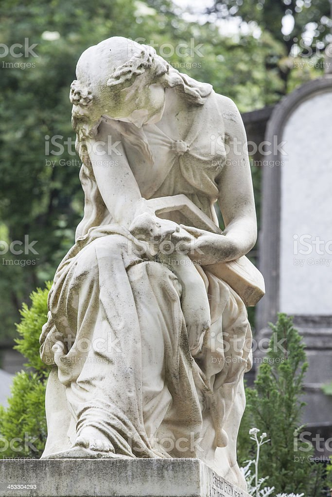 Grave of Frederic Chopin in Paris royalty-free stock photo