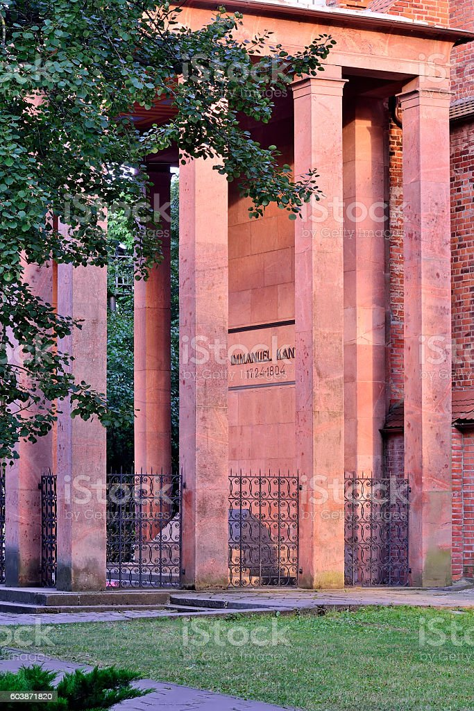 Grave of German philosopher Immanuel Kant. Kaliningrad, Russia stock photo