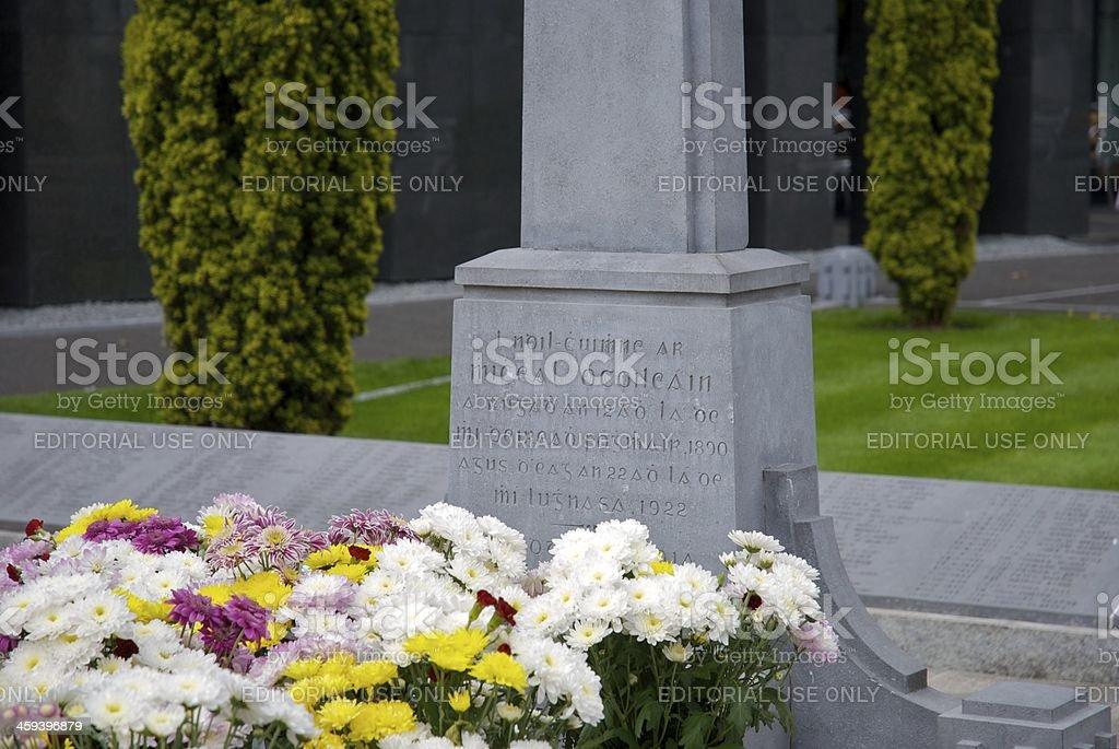 Grave of Michael Collins at Glasnevin Cemetery, Dublin, Ireland stock photo