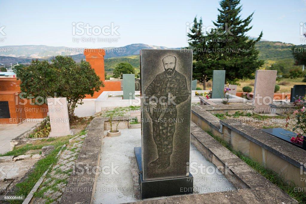Grave of Nagorno-Karabakh war soldier in Stepanakert stock photo