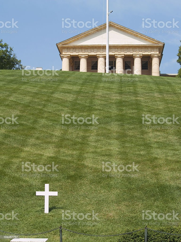 Grave of Robert F. Kennedy at Arlington National Cemetery stock photo
