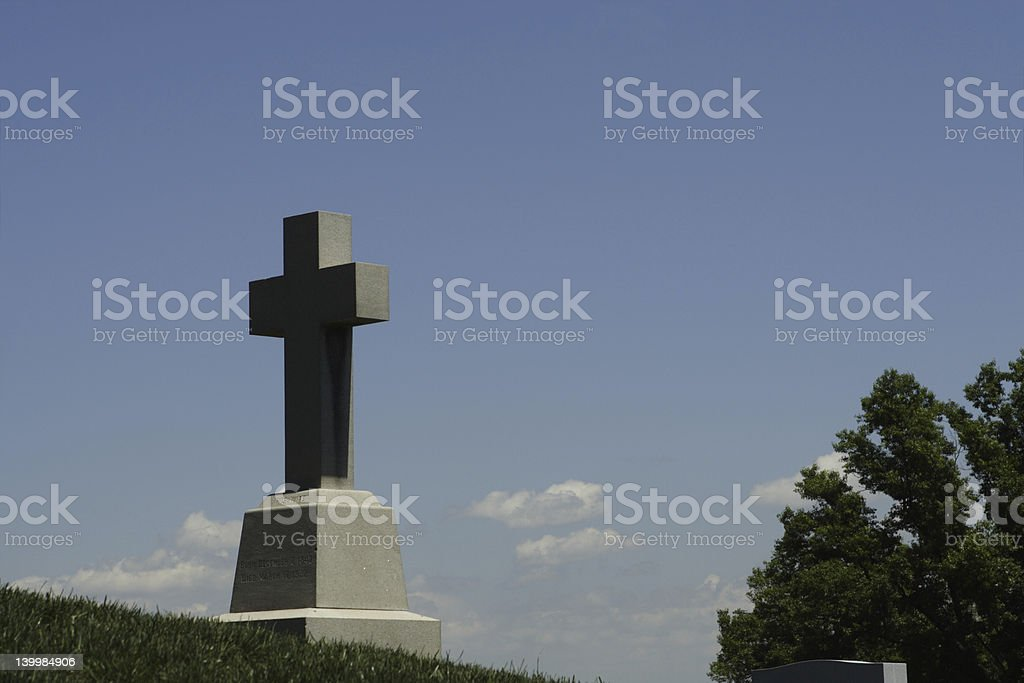 Grave on a hill royalty-free stock photo