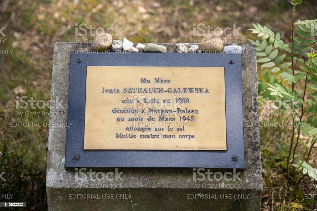 Grave Polish woman Bergen-Belsen stock photo