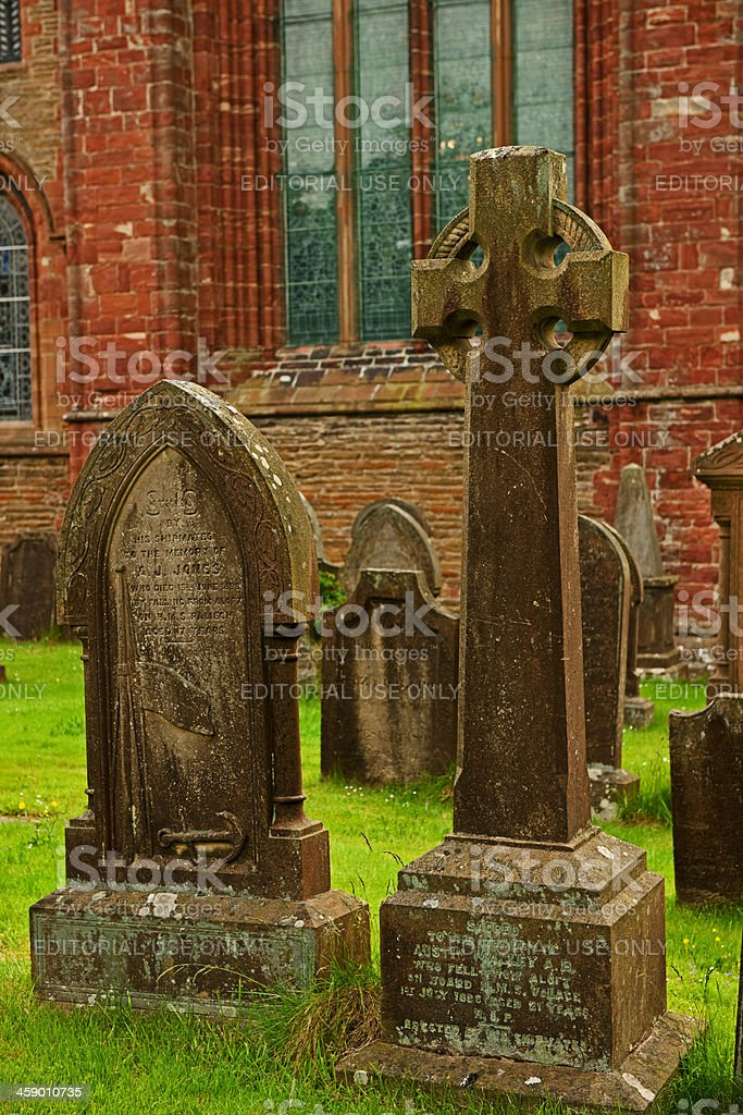 Grave stone at the St. Magnus Cathedral royalty-free stock photo