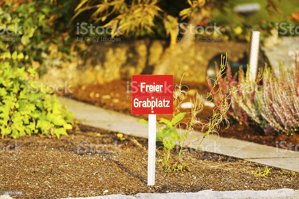 Grave vacancy royalty-free stock photo