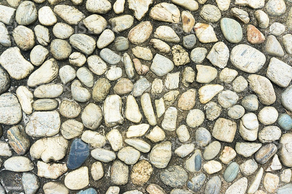 Gravel and concrete royalty-free stock photo