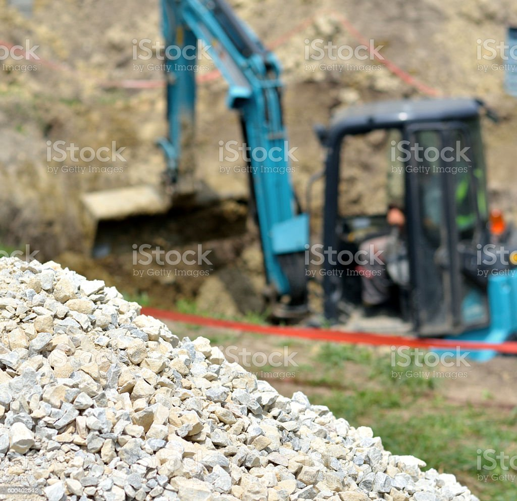 Gravel and Digger stock photo