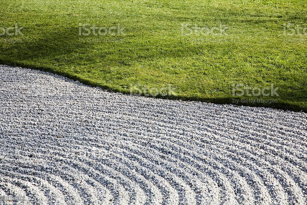 Gravel and Grass royalty-free stock photo